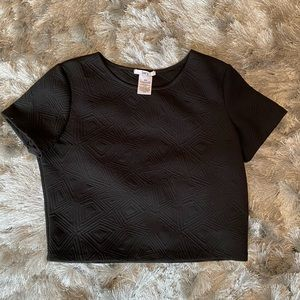 Bar III Geometric Crop Top Size M